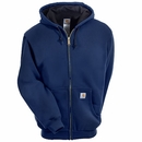 Carhartt Sweatshirts: Men's J149 472 Navy Thermal Lined Zip Up Hooded Sweatshirt
