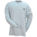 Carhartt Shirts: Men's Ash Grey K126 ASH Cotton Long Sleeve Pocket Shirt