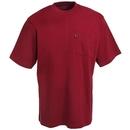 Key Shirts: Men's Red Cotton 820 63 Short-Sleeve Pocket Tee Shirt