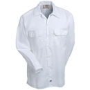Dickies Shirts: Men's White 574 WH Button Up Long Sleeve Work Shirt