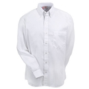 Dickies Shirts: Men's White SS36 WH Cotton Blend Long Sleeve Oxford Shirt