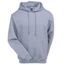Jerzees Sweatshirts: Men's 4997M OXF Oxford Grey Super Sweats Pullover Hooded Sweatshirt