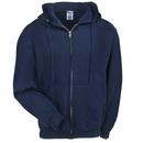 Jerzees Sweatshirts: Men's 4999M NVY Navy Blue Full-Zip Super Sweats Hooded Sweatshirt