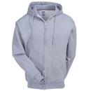 Jerzees Sweatshirts: Men's 4999M OXF Oxford Grey Super Sweats Hooded Full-Zip Sweatshirt
