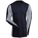 Justin FR Shirts: Men's JW22005 NG Navy Blue FR Cotton Long-Sleeve Crew Tee Shirt