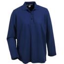 Port Authority Shirts: Women's Navy Long Sleeve Polo Shirt L500LS NVY