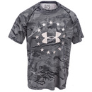 Under Armour Shirts: Freedom Reaper Tech 1293368 001 Loose Fit Men's Black Tactical T-Shirt