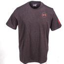 Under Armour Shirts: Freedom Flag Charged Cotton Men's 1299257 090 Carbon Heather Tactical T-Shirt