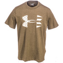 Under Armour Shirts: Men's Freedom Tonal BFL Green Charged Cotton 1281545 390 Tactical T-Shirt