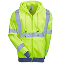 Occunomix Jackets: Men's ANSI High Visibility Hooded Sweatshirt Jacket OCCLUX-SWT3HZ YL