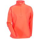 Sport-Tek Sweatshirts: Women's LST850 HTC Sport-Wick Hot Coral 1/2 Zip Pullover Sweatshirt