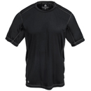 Stormtech Shirts: Men's SAT400 BLK/GNT Black/Granite Grey H2X Dry Hybrid Tee Shirt