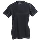 Stormtech Shirts: Women's SAT400W BLK/GNT Black/Grey Moisture-Wicking Tee Shirt