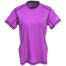 Stormtech Shirts: Women's SAT400W LAC/BLK Purple/Black Polyester Performance Tee Shirt