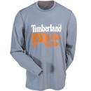 Timberland PRO Shirts: Men's TB0A12CI067 Grey Wicking Good Logo Long-Sleeve T-Shirt