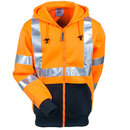 Tingley Sweatshirts: Men's Orange S78129 High-Visibility Hooded Sweatshirt