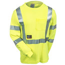Tingley Shirts: Men's High-Visibility Yellow Flame-Resistant S85522 Safety Tee Shirt
