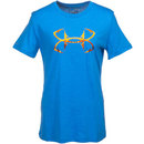 Under Armour Shirts: Women's 1255234 483 Blue Hook Logo Tee Shirt