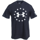 Under Armour Shirts: Men's 1268759 001 Black UA Freedom Charged Cotton Tee Shirt