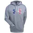 Under Armour Sweatshirts: Men's 1276945 025 Grey Water-Resistant UA Hoodie Sweatshirt