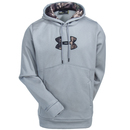 Under Armour Sweatshirts: Men's 1279836 026 Water-Repellent Grey Storm Icon Caliber Hooded Sweatshirt