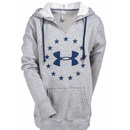 Under Armour Sweatshirts: Freedom Logo Favorite Fleece Women's 1285559 026 Grey Heather Tactical Hoodie