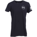 Under Armour Shirts: Women's 1302219 001 Charged Cotton Freedom Flag Black Tee Shirt