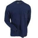 Wolverine Shirts: Men's W1203830 417 Navy Blue Knox Long-Sleeve Tee Shirt
