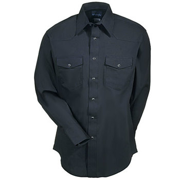 Wrangler Shirts: Men's Black 71105 BK Western Snap Long Sleeve Shirt