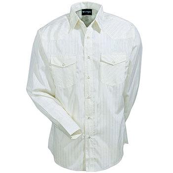 Wrangler Shirts: Men's Tan 75226 TN Long Sleeve Western Snap Shirt