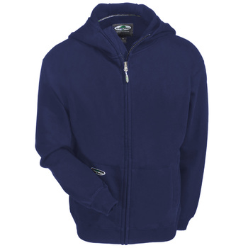Arborwear Sweatshirts: Men's 400341 NVY Navy Blue Single Thick Full Zip Hooded Sweatshirt