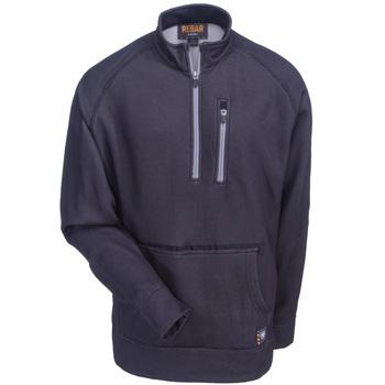 Rebar Workwear: Men's Black 10020766 Long Sleeve 1/4 Zip Fleece Shirt