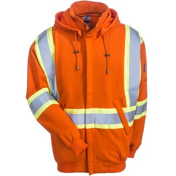 Black Stallions Sweatshirts: Men's JF1332 OR Hi Vis Orange TruGuard 200 FR Hooded Sweatshirt