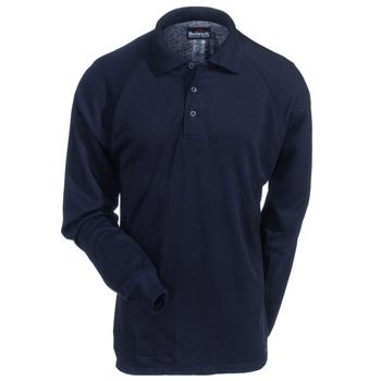 Bulwark Shirts: Men's SMP2 NV Navy Flame-Resistant Long Sleeve Polo Shirt
