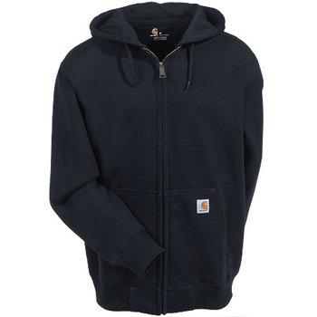 Carhartt Sweatshirts: Men's Black 100614 001 Zip Front Rain Defender Hooded Sweatshirt