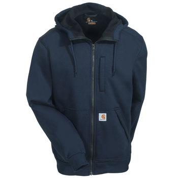Carhartt Sweatshirts: Men's 101759 412 Navy Blue Hooded Wind Fighter Sweatshirt
