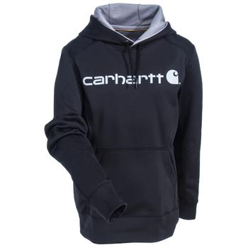 Carhartt Force Sweatshirts: Women's 102185 001 Black Force Extremes Signature Graphic Hooded Sweatshirt
