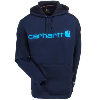 Carhartt Force Sweatshirts: Men's 102314 412 Navy Blue Force Extremes Signature Graphic Hooded Sweatshirt
