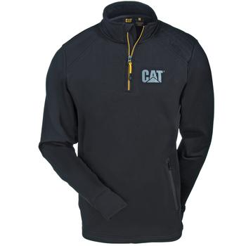 CAT Apparel Sweatshirts: Men's 1910040 016 Black Contour 1/4 Zip Sweatshirt