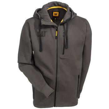 Caterpillar Sweatshirts: Men's Grey 1910060 88F Drop Tail Zip Sweatshirt