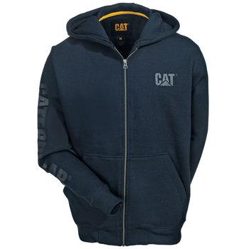 Caterpillar Sweatshirts: Men's W10840 10378 Blue Full-Zip Hooded Sweatshirt