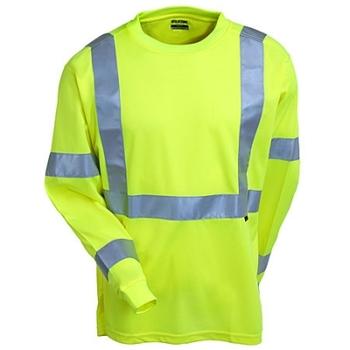 Wolverine Shirts: High Vis Long Sleeve T-Shirt W1105800 320