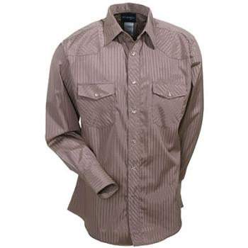 Wrangler Shirts: Men's Tan 75742 TN Western Snap Long Sleeve Shirt