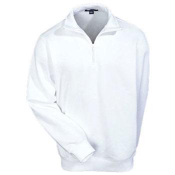 Sport Tek Sweatshirts: Men's Colorfast ST253 WHT 1/4 Zip Sweatshirt