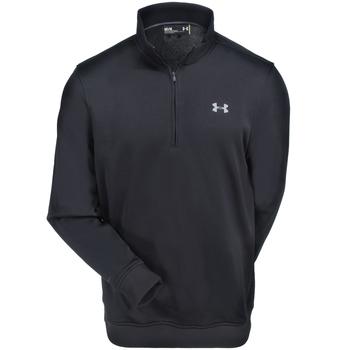 Under Armour Sweatshirts: Men's 1281267 001 Black Water-Resistant Storm SweaterFleece 1/4 Zip Sweatshirt