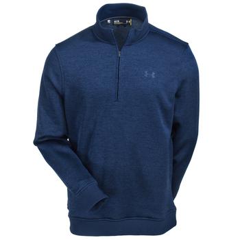 Under Armour Sweatshirts: Men's 1281267 408 Blue Water-Repellent Academy Storm 1/4 Zip Sweatshirt