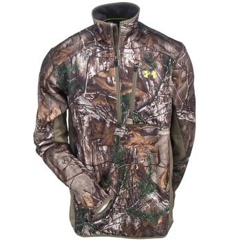 Under Armour Sweatshirts: Men's 1284456 946 Scent Control Realtree AP Xtra Storm 1/4 Zip Sweatshirt