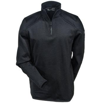 Under Armour Sweatshirts: Men's 1304933 016 Grey ColdGear Reactor 1/4 Zip Sweatshirt