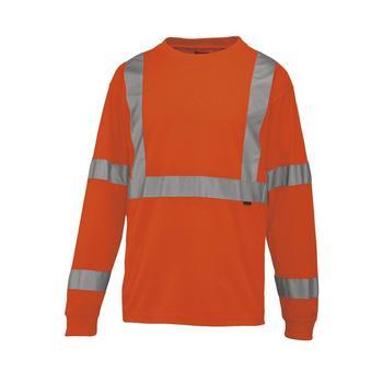 Wolverine Shirts: Men's W1105800 820 Caution Hi Vis Orange Long Sleeve Shirt