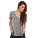 Volcom Deep Dish V Neck T Shirt in Heather Grey